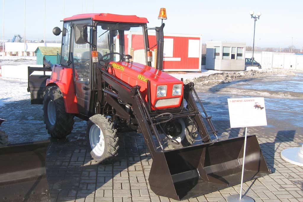 Трактор Беларус Беларус МК Трактор для коммунального  Трактор для уборки тротуаров Трактор Беларус 320 Беларус 320МК фото